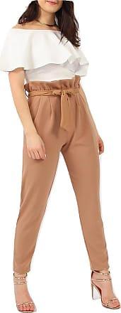 Momo & Ayat Fashions Ladies Paperbag Tie Waist Slim Cigarette Trousers UK Size 8-26 (UK 12 (EUR 40), Camel)