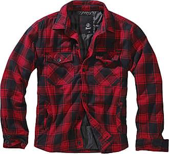 Brandit Men Lightweight Jacket Lumberjacket, Size:4XL, Color:red/Black
