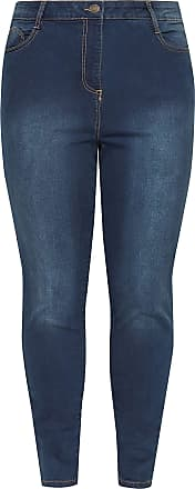 Yours Clothing Clothing Womens Indigo Skinny Stretch AVA Jeans Size 22 Indigo