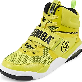 Zumba Air Classic Remix High Top Fitness Workout Dance Shoes for Women, Yellow 0, 10.5 UK