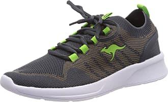 Kangaroos Unisexs KangaFOAM Adult Sock Trainers, Grau (Taupe/Lime 2095), 8 UK