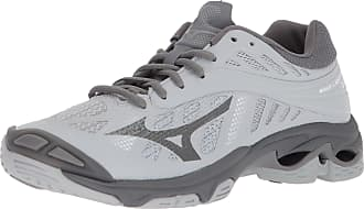 mizuno womens volleyball shoes size 8 xl jeans gray green