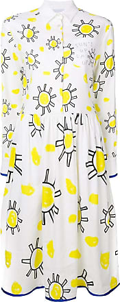 Mira Mikati Sun Doodle shirt dress - White