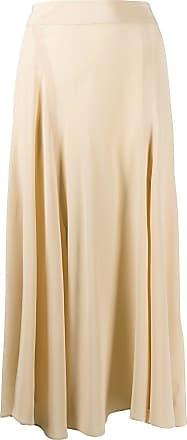 Acne Studios asymmetric silk midi skirt - NEUTRALS