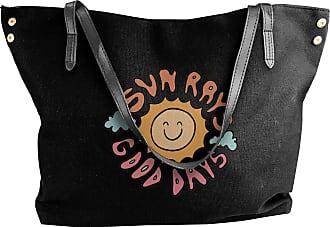 Juju Sun Rays Good Days Womens Classic Shoulder Portable Big Tote Handbag Work Canvas Bags