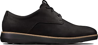 Clarks Banwell Lace Nubuck Shoes in Black Standard Fit Size 8.5