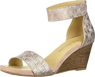 Chinese Laundry Womens HOT Zone Wedge Sandal, Rose Gold/Metallic, 7.5 M US