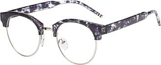 Inlefen Blue Light Blocking Vintage Clear Lens Reader Computer Glasses Men/Women Anti Eyestrain Purple