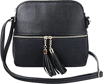 LeahWard Womens Quality Faux Leather Cross Body Bags Tassel Shoulder Bag Handbags For Holiday Party 1061 (FRESH MINT/PEARL)