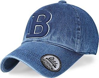 Ililily Letter Embroidery Denim Vintage Baseball Cap Washed Cotton Trucker Hat, B