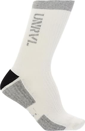Unravel Embroidered Socks Mens Grey