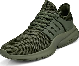 Zocavia Zocavia running shoes men women trainers breathable sports shoes trainers men lightweight fitness shoes road running shoes outdoor Green Size: 9 UK