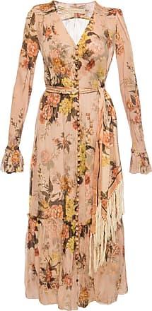 Zimmermann Patterned Dress Womens Pink
