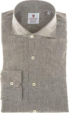 Cordone 1956 Camicia sartoriale Mod. Brown Linen Shirts - Tessuto lino - Colore marrone - Taglia 36