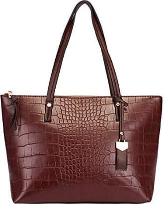 WJ Bolsa Shopping Bag Croco WJ (Café)