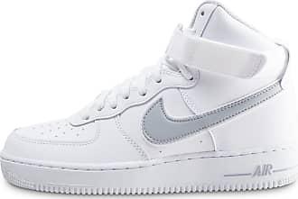huge selection of 5ba14 d98ab Nike Homme Air Force 1 High Blanche Et Argent Baskets