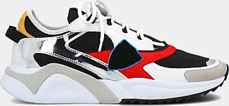 Philippe Model Sneakers - Eze Mondial Metal - Noir Rouge