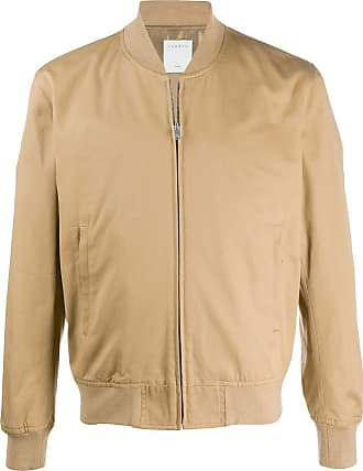 Sandro ribbed-neck zip-through bomber jacket - Brown
