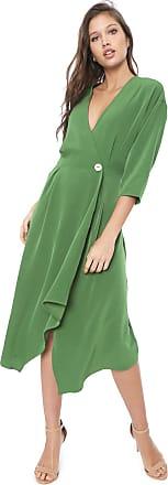 Colcci Vestido Colcci Midi Pregas Verde