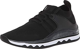 A|X Armani Exchange Womens Lace Up Athleisure Sneaker, Black, 36M Medium EU (6 US)