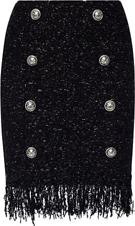 Balmain Embellished Skirt Womens Black