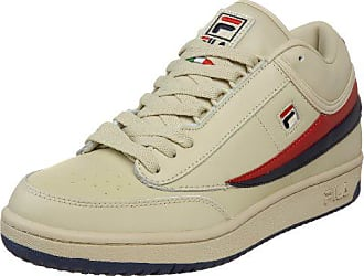 Fila Mens t1 mid Fashion Sneaker, Cream/Peacoat/Chinese Red, 8 M US