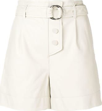 Yves Salomon belted high waisted shorts - NEUTRALS