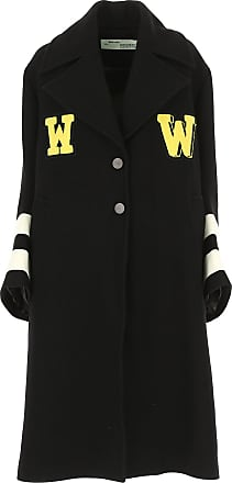 Off-white Womens Coat, Black, Wool, 2017, 4