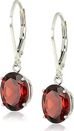 Amazon Collection Sterling Silver Oval Gemstone Dangle Earrings