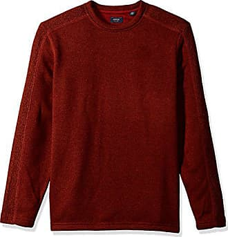 Arrow USA 1851 Arrow Mens Aberdeen Long Sleeve Sweater Fleece Crewneck Pullover, Maple Spice, Large