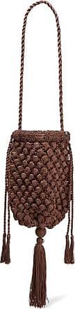 NANNACAY + Net Sustain Electra Tasseled Crocheted Shoulder Bag - Brown