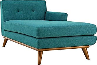 ModWay Modway Engage Mid-Century Modern Upholstered Fabric Right-Arm Chaise In Teal