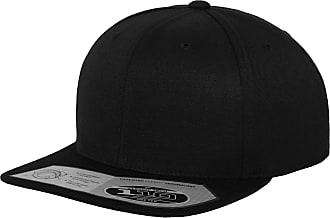 Yupoong Flexfit Unisex 110 Plain Fitted Snapback Cap (One Size) (Black)