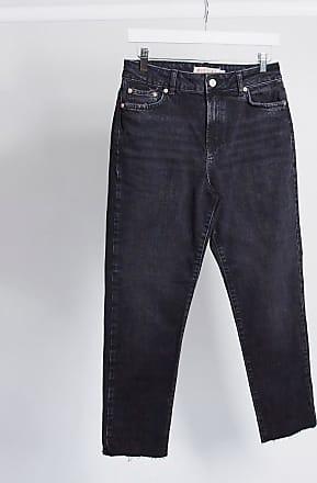 Pieces Nima - Gerade geschnittene Jeans in Schwarz mit hoher Taille