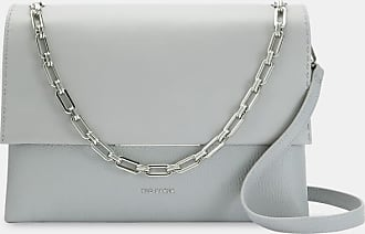 Ted Baker Bar Detail Leather Shoulder Bag in Light Grey DIAANA, Womens Accessories