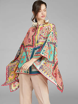 Etro Patchwork Print Poncho, Woman, Multicolor