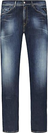 Replay Übergröße : Replay, Modische Used-Jeans, Hyperflex, Jondrill in Blau für Herren