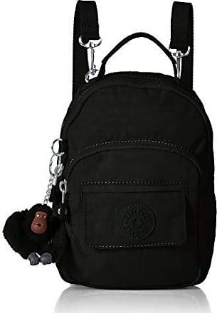 Kipling Womens Alber 3-in-1 Convertible Mini Bag Backpack, Wear 3 Ways, Zip Closure, black tonal