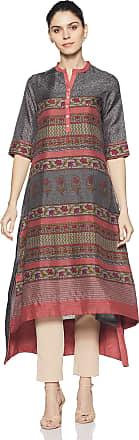 Biba Womens A-line Kurta (Jaipur C14052_Black_32)