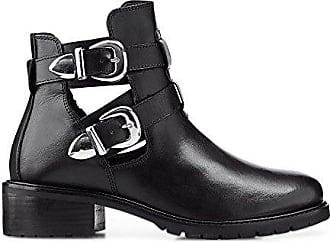 1d534e857ef2 ANOTHER A Damen Damen Trend-Bootie, Stiefelette in Schwarz mit robuster  Laufsohle schwarz Glattleder