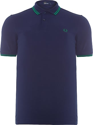 Fred Perry POLO MASCULINA TWIN TIPPED - AZUL