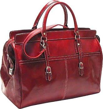 Large Floto Luggage Shoulder Strap Firenze Brief Red