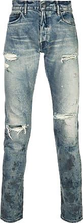 John Elliott + Co Calça jeans desgastada - Azul