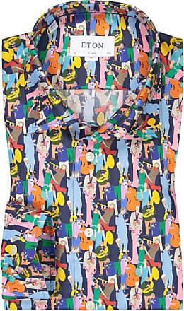 Eton Übergröße : Eton, Oberhemd mit Lyocell-Anteil in Blau für Herren