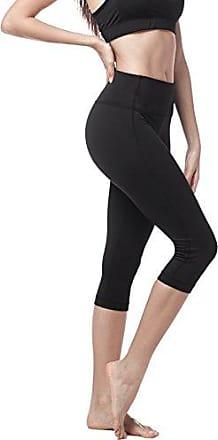 mit Tasche L09 Blickdicht Figurformend /Übergro/ße Stretch LAPASA Damen Sport Kurz Leggings Yoga Tights Shorts 1 bis 2 Pack