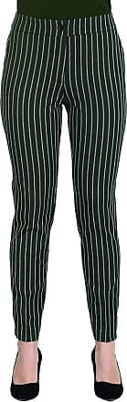 MySocks Regular Tailored Trousers Green White Pinstripe