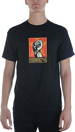 Obey Fist 30 Years Mens T-Shirt 163082262 Blk Black - Black - XL