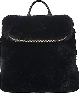 Whistles Leather and Faux Fur Mini Verity Back Pack - Black - New