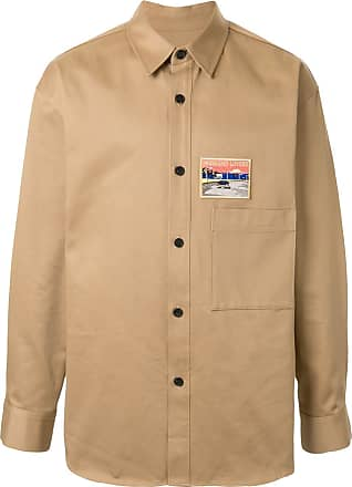 Wooyoungmi Camisa mangas longas com patch bordado - Marrom