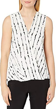Vince Camuto Womens Sleeveless Front Tie Soft Texture Blouse Classic Navy MD